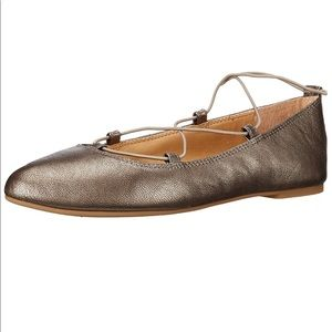 Lucky Brand Pewter Aviee Flats